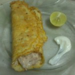 Mayonnaise Chicken Stuffed Eggroll