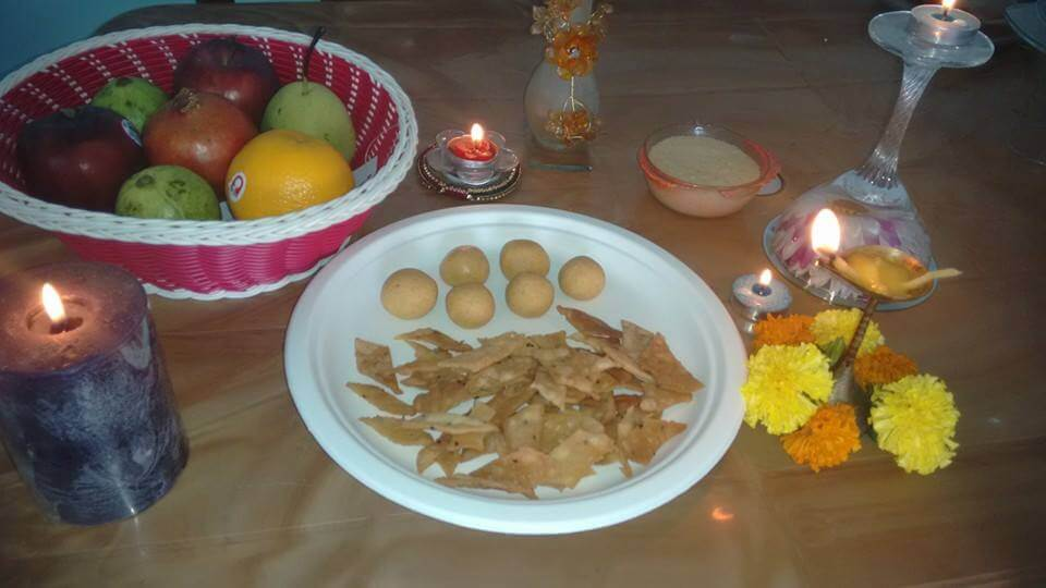 My Brown Table - Decorated for Diwali