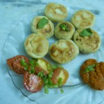 Baked Moong Dal Pakora with Roasted tomato salad and Tomato Salsa