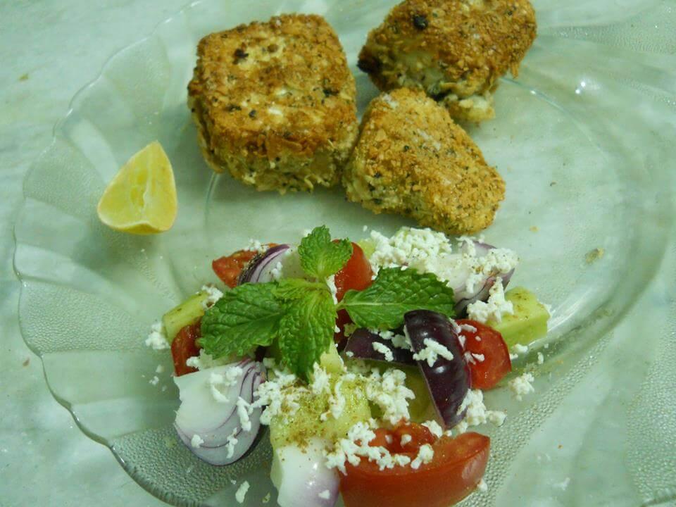 Paneer Crunchy with Greek Salad