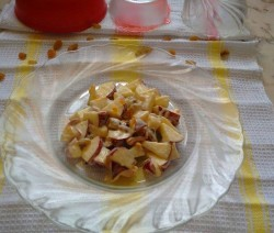 Apple Nuts Cinnamon Salad