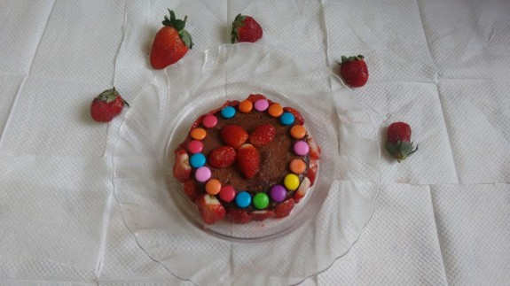 Home Baked Choco Strawberry Delight