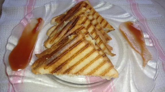 Potato Carom Seeds Grilled Sandwich
