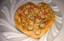 Homemade pizza - heart shaped