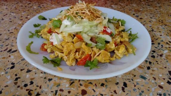 Egg Bhurji Chaat