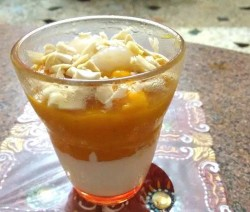 Mango with Yogurt Layer