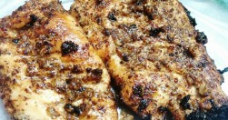 Grilled Chicken Breasts With Mustard Sauce