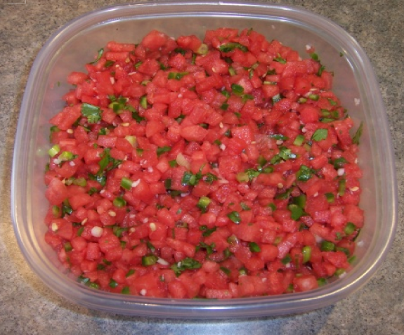 Watermelon Fire and Ice Salsa (1)
