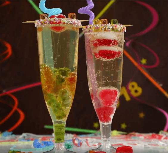 Gummy Bear Sparkling Juice Mocktail